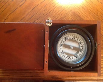 Vintage Nautical Compass by Polaris MC. Co