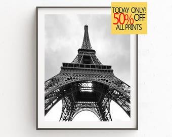 Eiffel Tower Print, Paris Wall Art, France Wall Art, Paris Photography, Paris Bedroom Decor,  Paris Wall Art, Square Black White, Paris Art