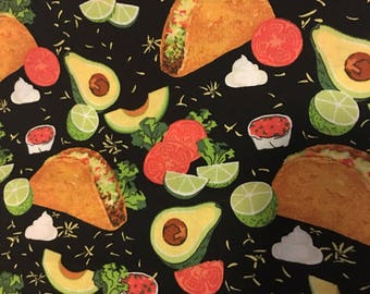 Taco'd Up REVERSIBLE Custom Made Pet Bandana - Dog Bandana - Cat Banana - Unique Pet Accessory