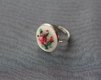 """Ring """"Bouquet of delicate roses"""" 18 mm"""