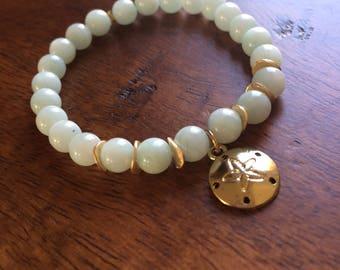 Sea Green Beaded Bracelet