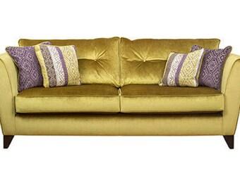 Designer Fabric Gold Viva Buoyant sofa