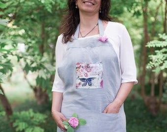 "Chic gardening apron-Florilover-""2 Blue"""