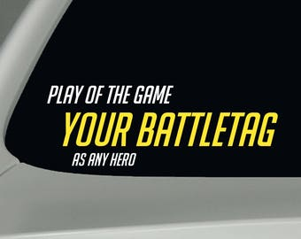Overwatch Decal Custom Play of the Game Sticker