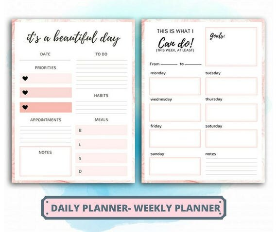 cute daily planner