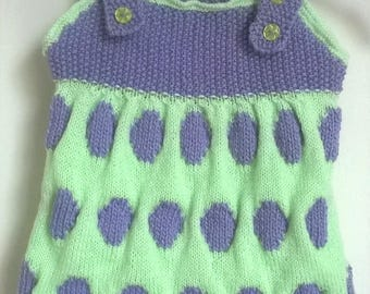 pretty knitted dress for babies