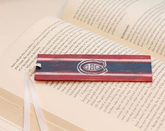 Distressed Montreal Canadiens NHL Hockey Logo Bookmark