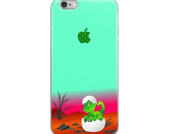Dinosaur Cute Funny iPhone Case - Iphone 7 case - Iphone 8 case - Iphone 7 plus case - Iphone 6 case - Iphone X case
