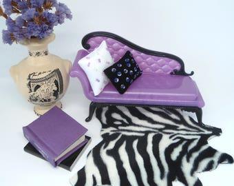 Barbie pillows, doll pillows, black and white pillow, modern cushion, scale pillows 1: 6.
