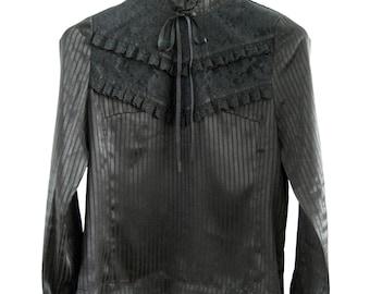 Victorian style romantic black blouse size S/M