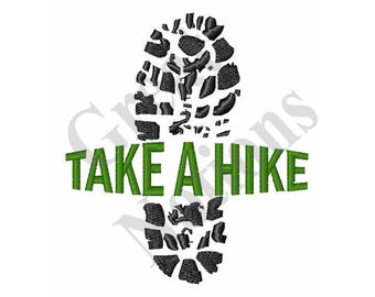 Take A Hike - Machine Embroidery Design