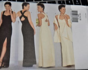 2001 Butterick Pattern 6463 UNCUT size 12, 14, 16 Misses Jacket and UNCUT dress AND stole...factory folded