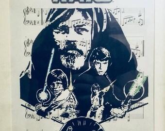 Star Wars sheet music art