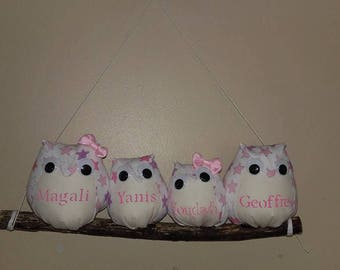 owls on branch personalized choice