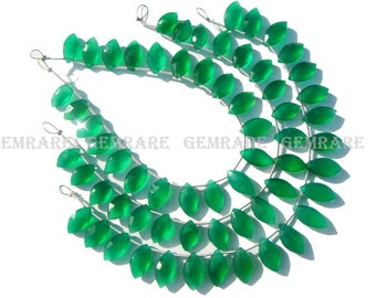 Green Onyx Faceted Marquise Semiprecious sotne, Quality AAA, 6.50x12 to 7.50x14 mm, 18 cm, 21 pieces, GR-095/1, Craft Supplies for jewelry