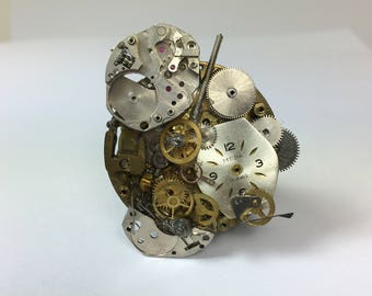 Handmade watch pin, Retro, Steam Punk Style,