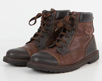 Vintage Dark Brown Leather Boots/ Size 43
