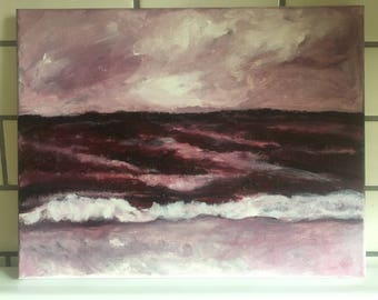 Irish Sea - acrylic painting