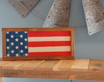 Wood Flag Sign, USA Flag Sign, Wood American Flag Sign, American Sign