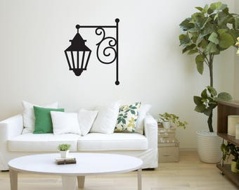 Oil Lamp Wall Decal, Street Lamp Wall Art, Wall Decor, Kids Room Decor Part 80
