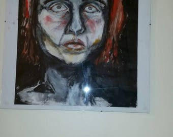 A2 ginger man portrait wall art contempory artwork