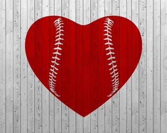 Baseball heart SVG, Baseball love SVG, Baseball SVG files, Vector files for Cutting, Printing, Web Design projects and much more:)