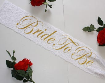 bachelorette sash bride sash bridal sash bride gold sash bride blue sash wedding party bride lace sash bridal gift bride to be sash Bride