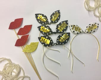 Bachelorette headband Bunny ears, Bachelorette tiara, Bachelorette accessories, Bridal tiara, bride tiara, Bridesmaid tiara, Bridal gift