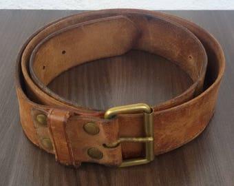 Vintage Leather Belt Etsy