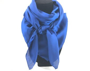 Royal blue Wild Rag Square Scarf