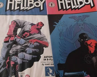 Two (2) Hellboy comic books 1 and 2