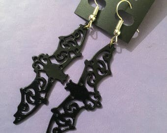 Filigree Bat Earrings
