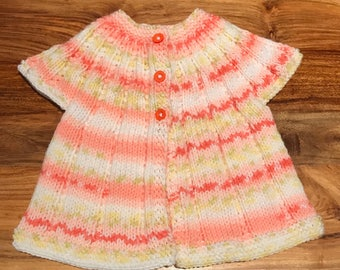 Hand Knitted Baby Girl Summer Top 3-6 months