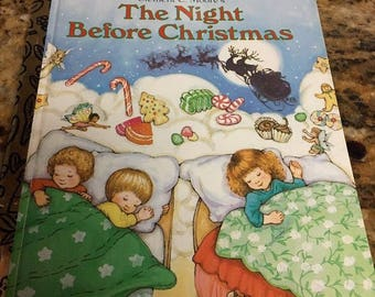Little Golden Book: The Night Before Christmas 1992 vintage