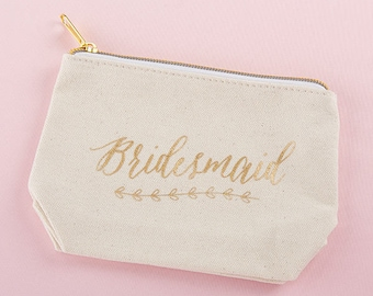 Bridesmaid Make Up Bag l Make Up Bag l Canvas Make Up Bag l Bridesmaid Gifts l Bridesmaid Proposal Gifts l Bridesmaid Proposal Ideas