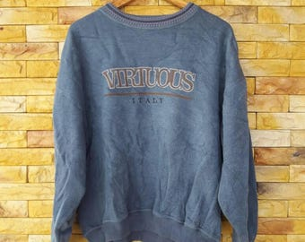 Virtuous italy crewneck sweatshirts 3Large size spell out embroidered