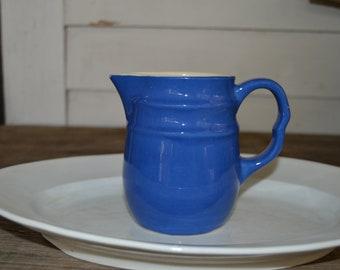 Blue USA Stoneware Creamer Pitcher