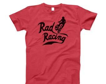 RAD RACING retro 80s style classic bmx movie Cru Jones Heather Red T-Shirt