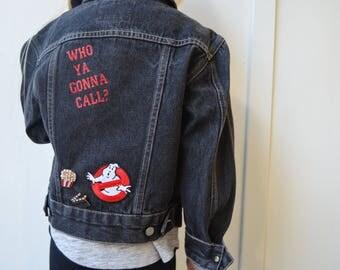 Ghostbusters Black Denim Jacket - Kids