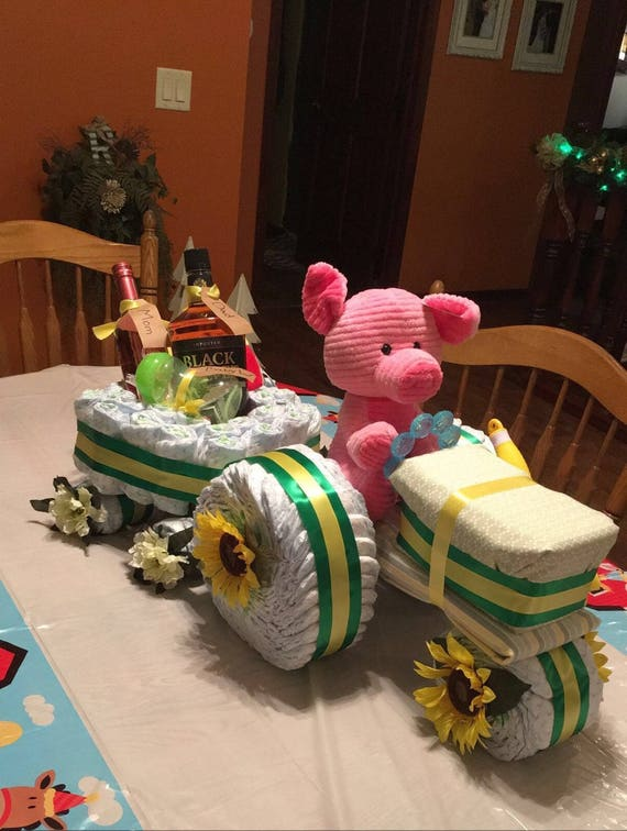Instructions To Make A Tractor Diaper Cake