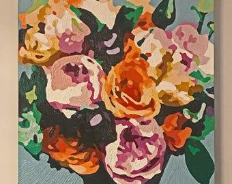 Lovely Bouquet, oil paint