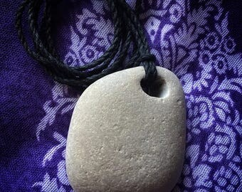 Hag Stone Hemp Protection Amulet Necklace