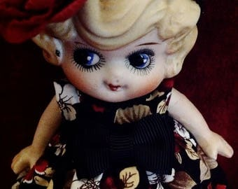 "Sweet Little Kewpie Flapper Bisque Doll ~ 6"""