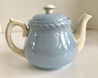 Vintage Homer Laughlin Kraft Blue 4 Cup Teapot