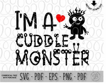 Baby SVG / Newborn SVG / Cuddle Monster SVG / New baby svg / Toddler svg files / mom svg / Svg files / svg files for cricut /