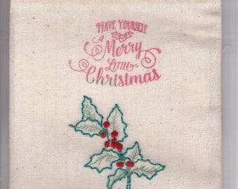 Reusable Gift / Trinket Bags (Merry Christmas)