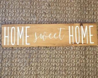 "Home Sweet Home Sign   Home sweet home   home sign   home   Rustic Home Sign   Wood Home Sign   Wooden Home Sign 6"" x 24"""
