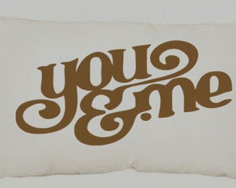 12x20 inch Canvas Pillow Cover - You & Me