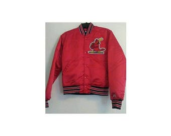 St.Louis Cardinals Satin MBL Starter Bomber 1990's Sz S