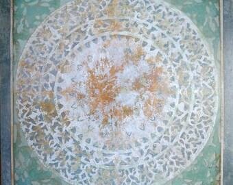 Mandala, oil on canvas